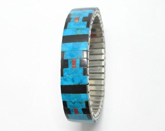 Bracelet extensible en turquoise