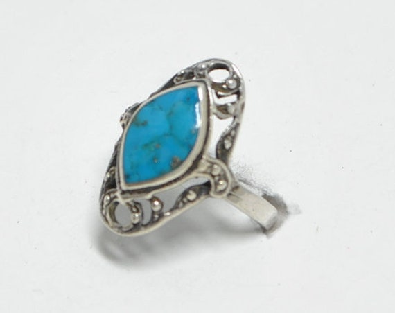 Native american turquoise vintage ring and sterling silver, turquoise ring, turquoise rings, vintage rings, native american jewelry