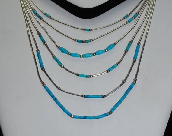 Collier en turquoise