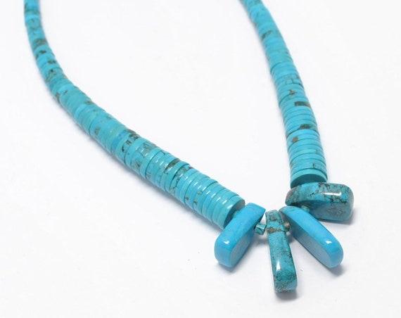 Collier en turquoise amérindienne