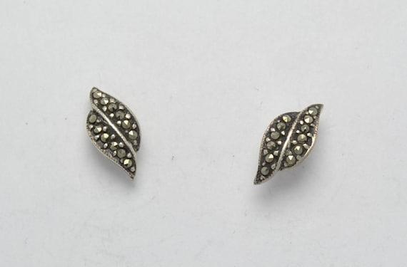 Boucles d'oreilles en marcassite et argent
