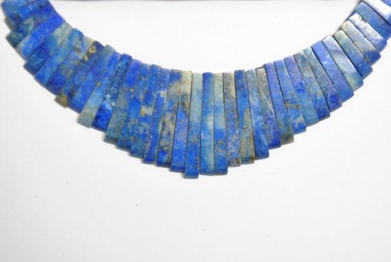 Lamelles perles en lapis lazuli