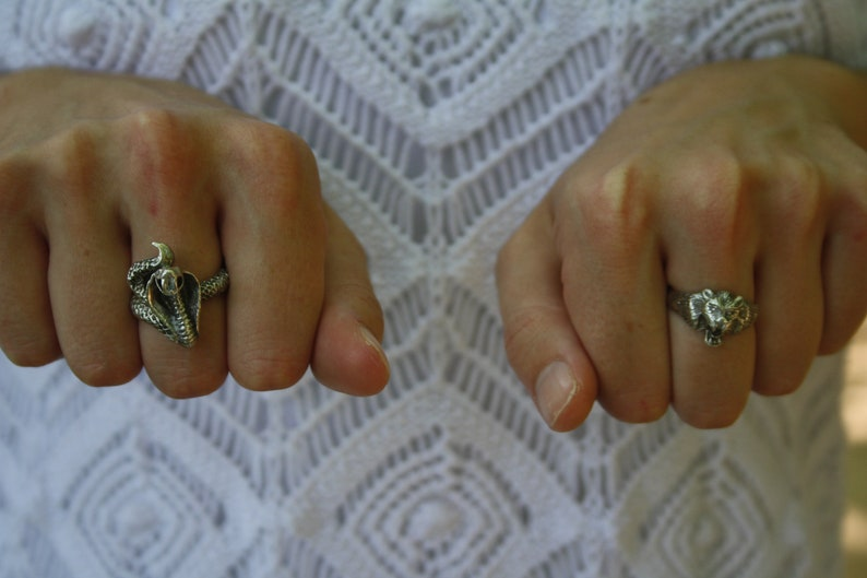 sterling silver ring animals ring Snake ring man ring snake jewelry unisex ring vintage ring cobra ring cobra jewelry