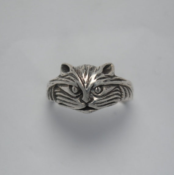 Cat silver ring, cat ring, cat vintage ring, cats rings, cat rings, vintage animal ring, vintage animals rings, animal ring, animals ring