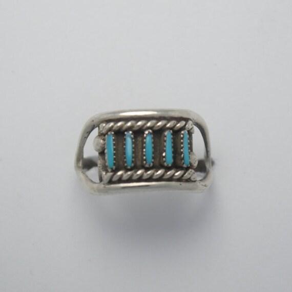 Zuni turquoise ring vintage navajo native american sterling silver, vintage ring, turquoise ring, native american ring, vintage ring