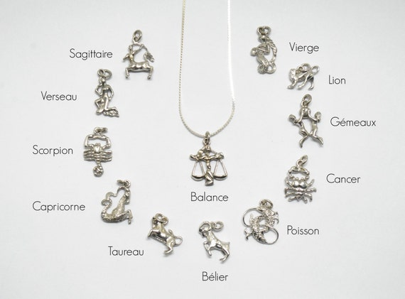 astrological sign necklaces with silver