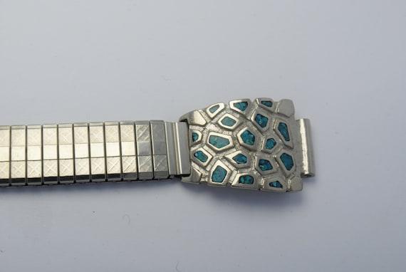 Bracelet de montre extensible en turquoise
