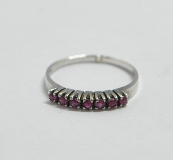 Ruby vintage ring with sterling silver - image 1