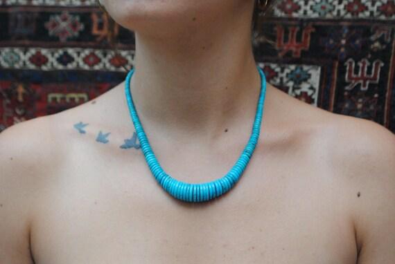 Collier en turquoise naturelle
