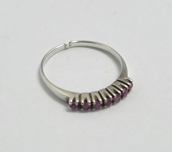 Ruby vintage ring with sterling silver - image 3