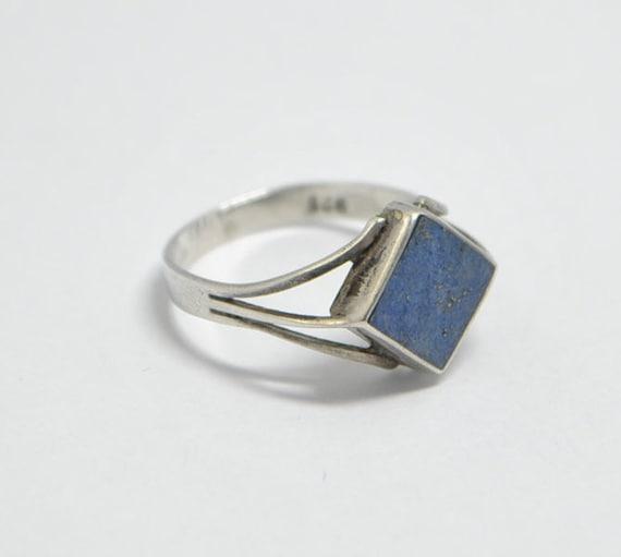 Bague en lapis lazuli et argent