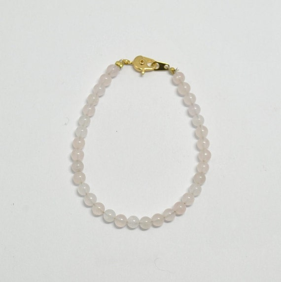 Bracelet de cheville en quartz rose - collection Bopotins