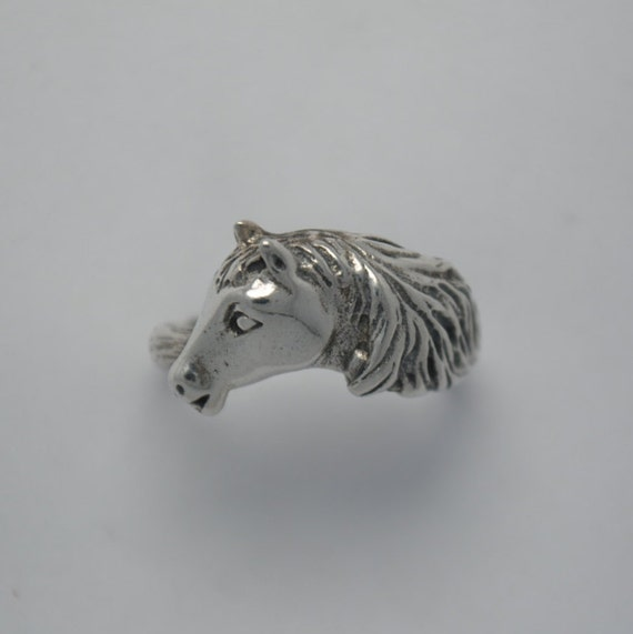 Bague cheval en argent