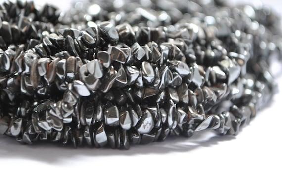 Perles hématite sur fil