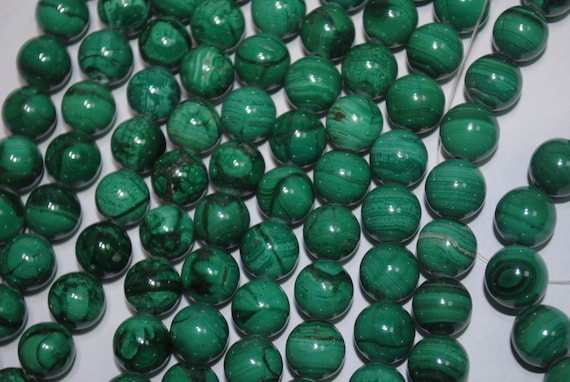 Malachite pearls for creations and creators