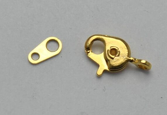 Fermoirs métal doré mousqueton