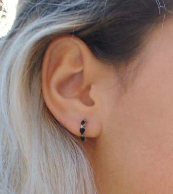 Boucles d'oreilles en onyx