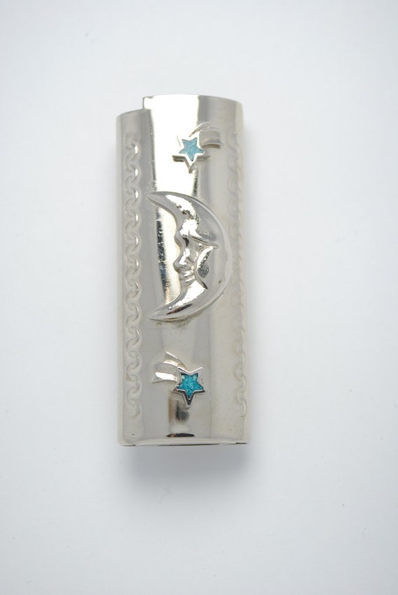 Lighter case - Moon and stars motifs - BIC lighter case