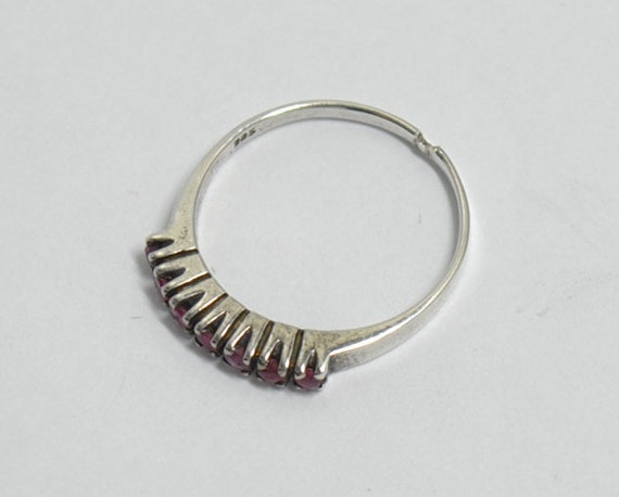 Ruby vintage ring with sterling silver - image 4
