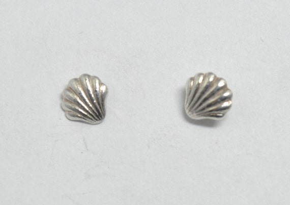 Shell chips earrings , sterling silver