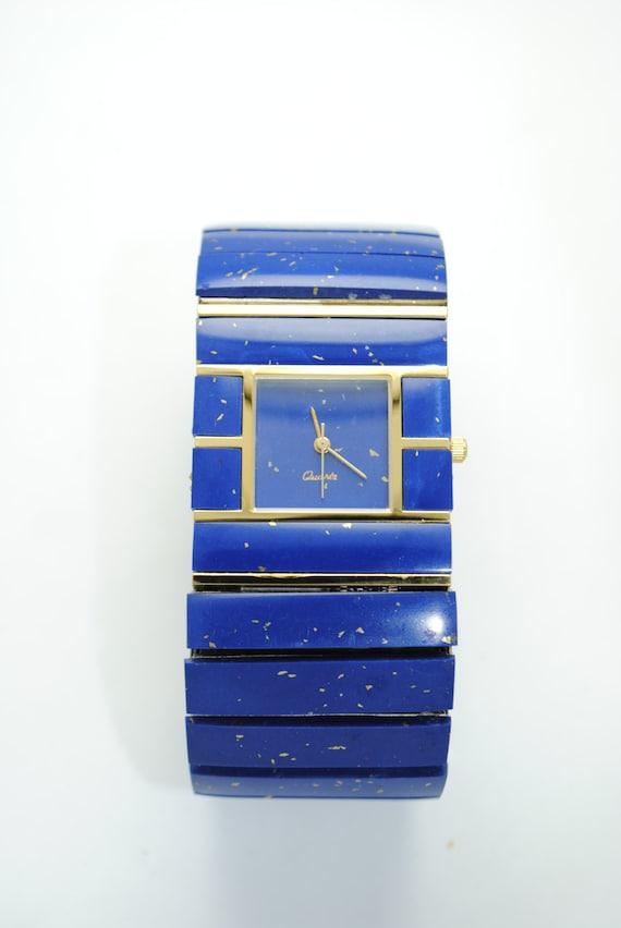 Montre vintage lapiz lazuli XL