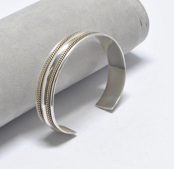 Bracelet manchette en argent