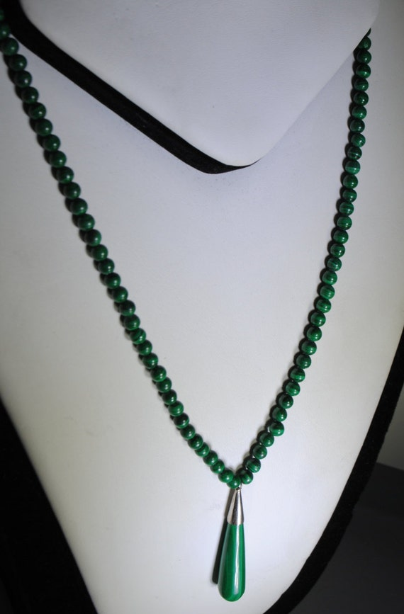 Collier goutte en malachite