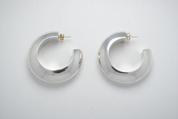 Boucles d'oreilles créoles en argent