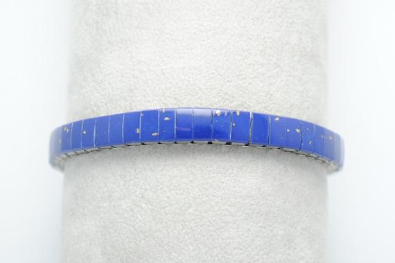 Bracelet extensible en Lapis Lazuli