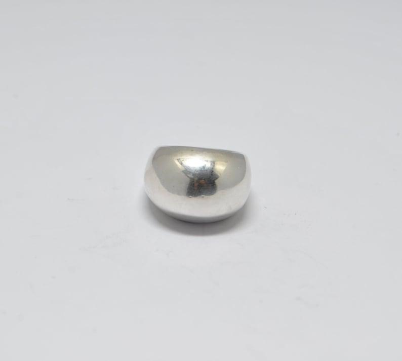Silver ring vintage ring large ring