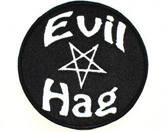 Evil Hag Iron On Patch