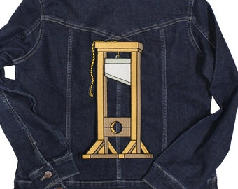 Guillotine Made To Order Iron On Back Patch