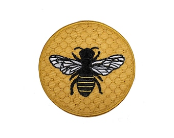Honey Bee Iron On Patch