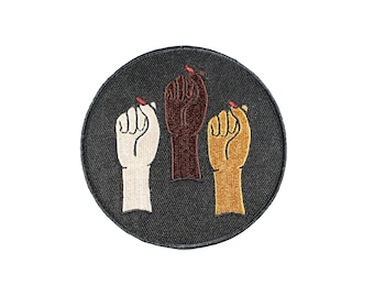 Babes In Solidarity Iron on Embroidered Patch