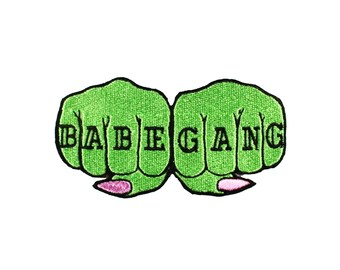 Babe Gang Knuckle Tattoo Iron On Patch