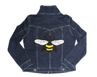 Honey Bee Iron On Embroidered Back Patch