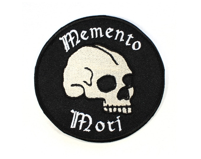 Featured listing image: Memento Mori Iron On Patch