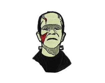 Frankenstein's Monster Iron On Embroidered Patch
