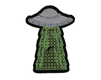 UFO Iron on Embroidered Patch