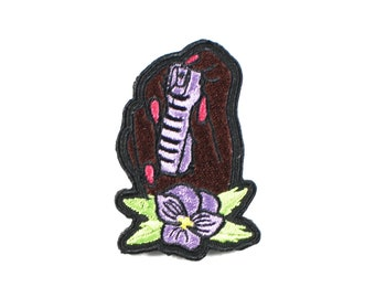Pepper Spray Hand-Embroidered-Iron On Patch