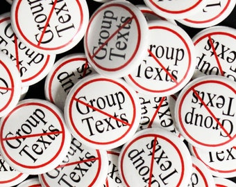 No Group Text-1 Inch-Pin Back-Button