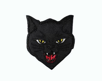 Black Cat Embroidered Patch