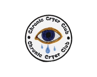 Chronic Cryer Club Iron On Embroidered Patch
