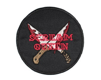 Scream Queen Horror Movie Lover Iron On Embroidered Patch