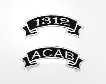 1312 ACAB Mini Banner Embroidered