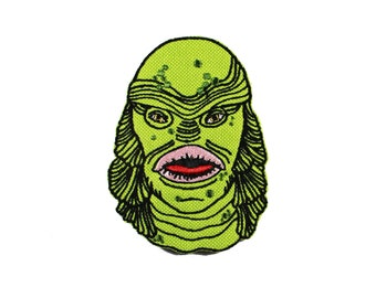 The Creature Iron On Embroidered Patch