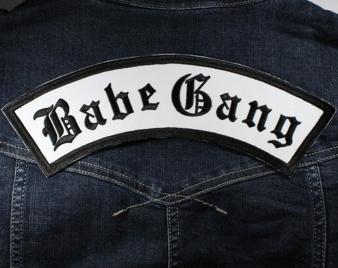 Featured listing image: Babe Gang Rocker Iron On Back Patch