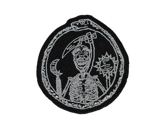 The Cycle Ouroboros Embroidered Iron On Patch