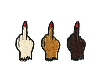Middle Finger Babe Iron On Patch