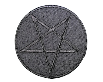 All Black All The Time Pentagram Patch